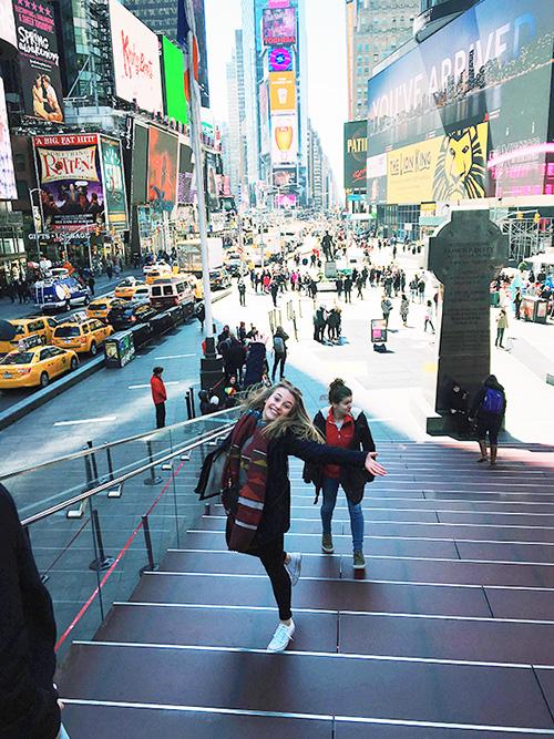 studentka na studiu v USA, New York
