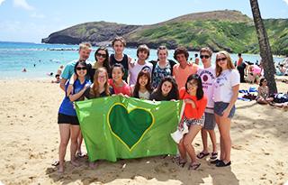 studium v USA na pláži